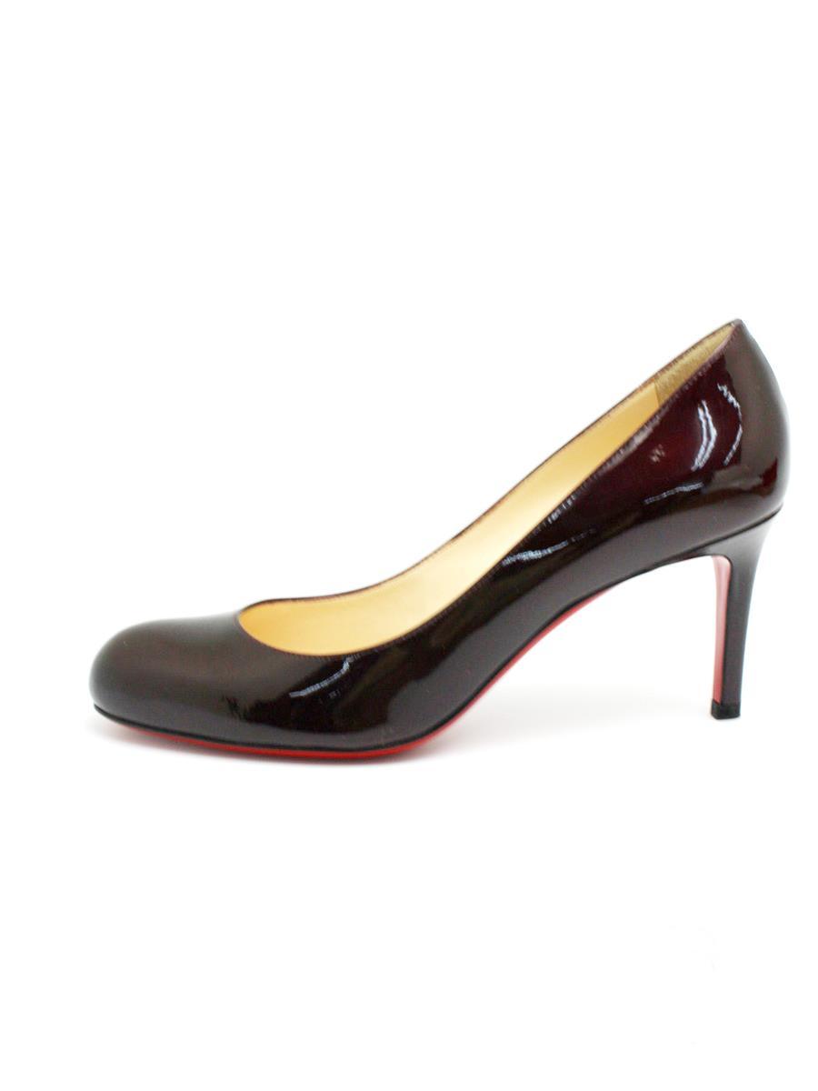 クリスチャンルブタン 靴 パンプス エナメル 右ソールロゴ変色あり