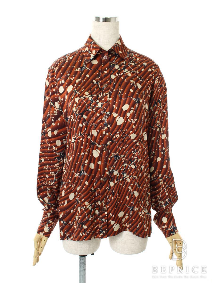 エルメス シャツ ブラウス トップス シャツ ブラウス 長袖 シルク