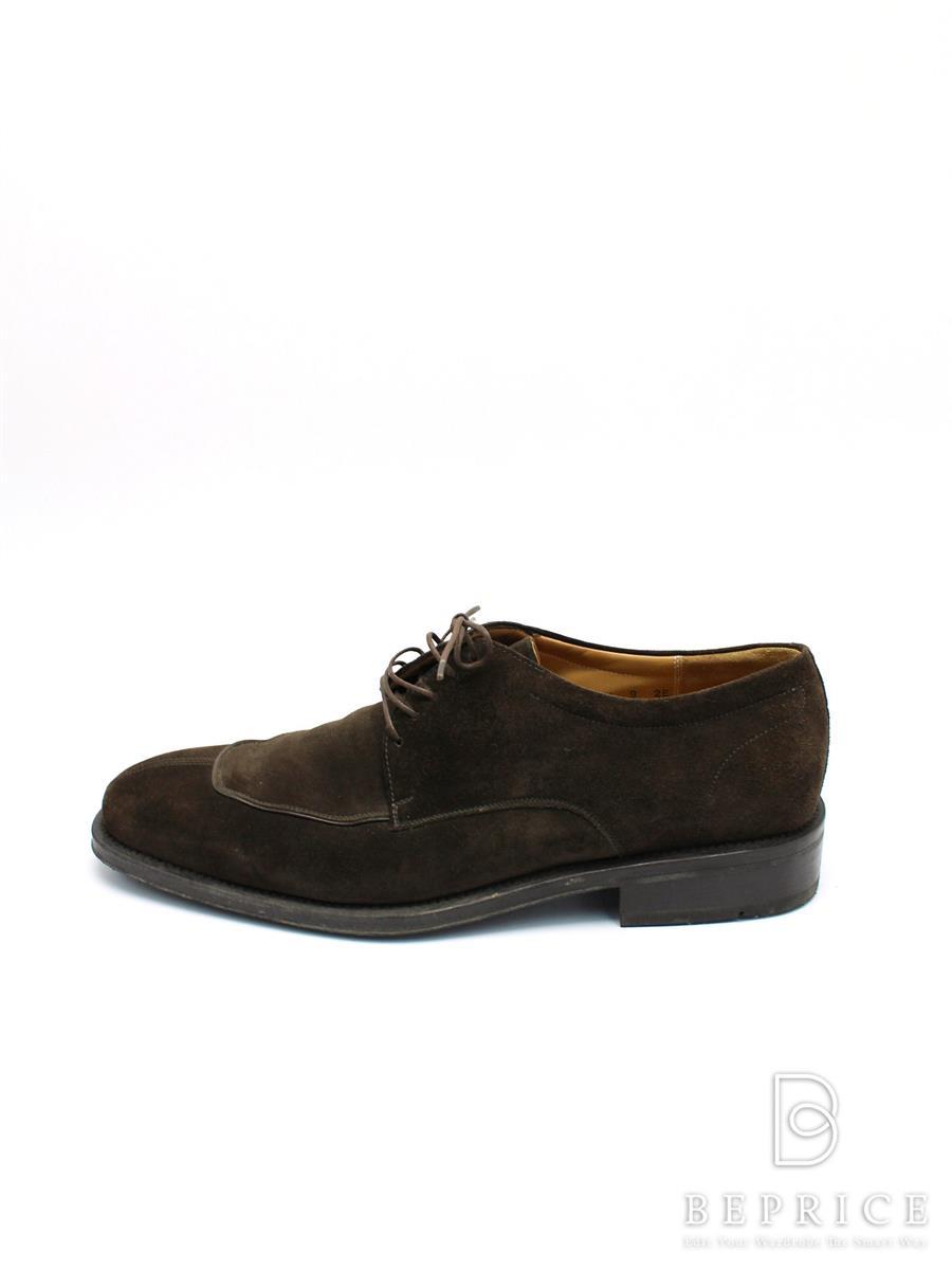 サルヴァトーレフェラガモ ブーツ シューズ Yチップ スエード 若干の色褪せあり