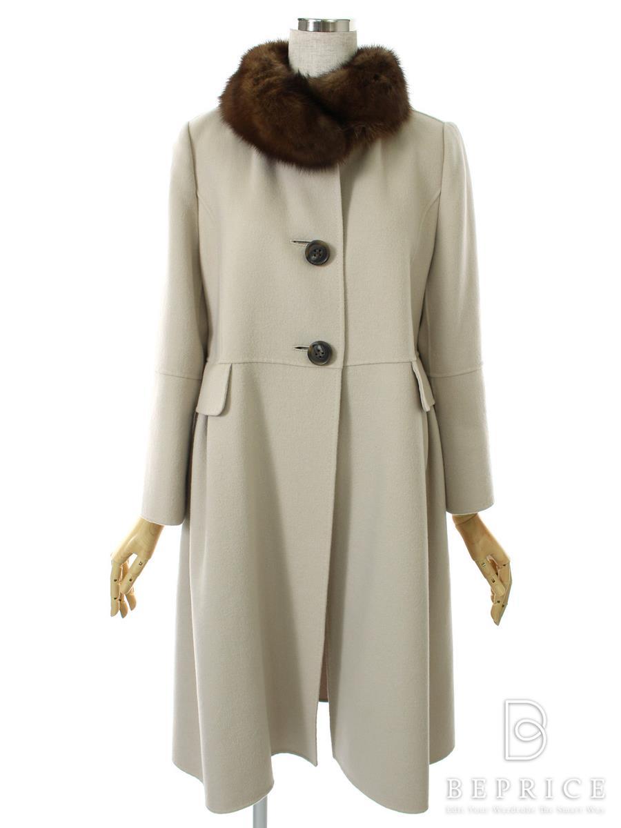 フォクシーブティック コート コート カシミヤダブルフェイス セーブル付き 24318