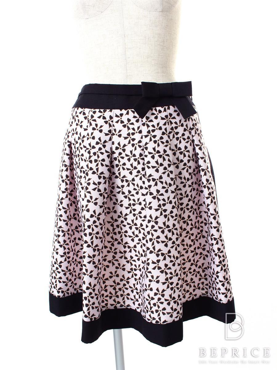 エムズグレイシー スカート スカート リボン柄