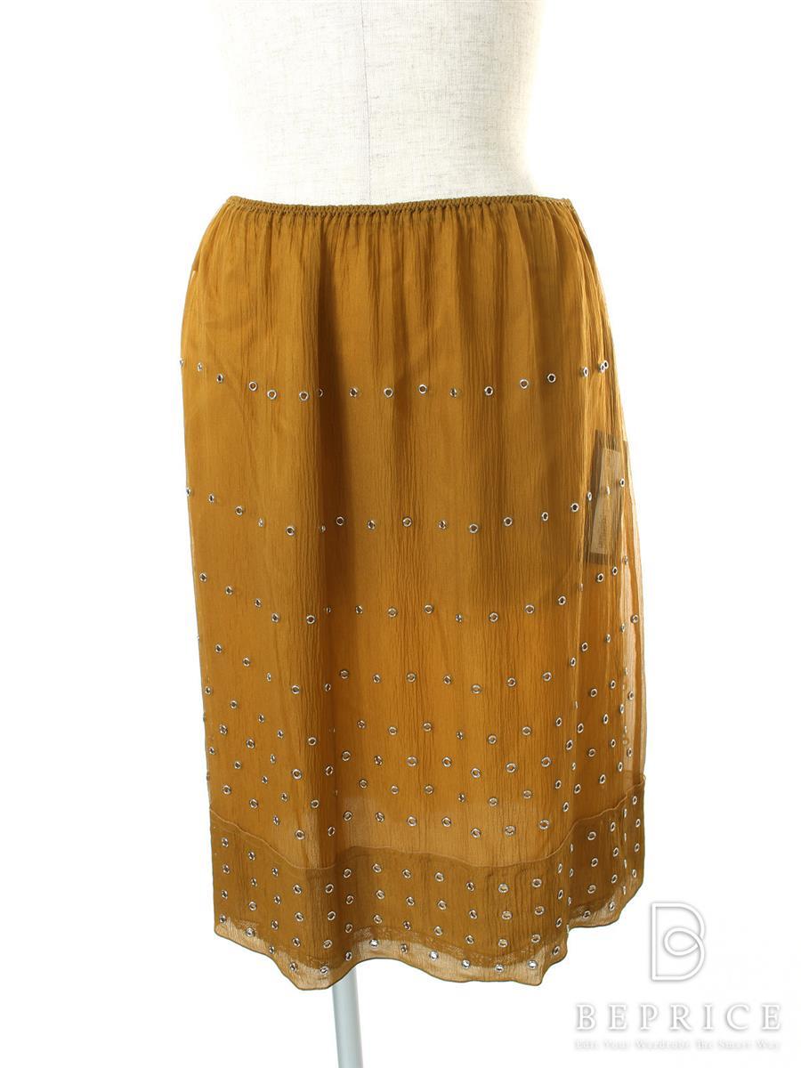 プラダ スカート スカート シルク100% シフォン パンチング