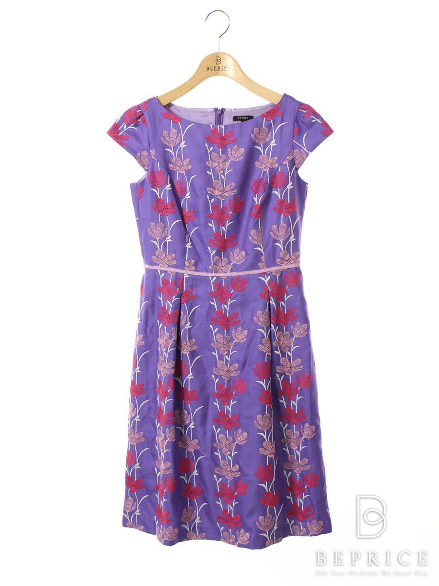 トッカ ワンピース ワンピース 半袖 花柄 刺繍