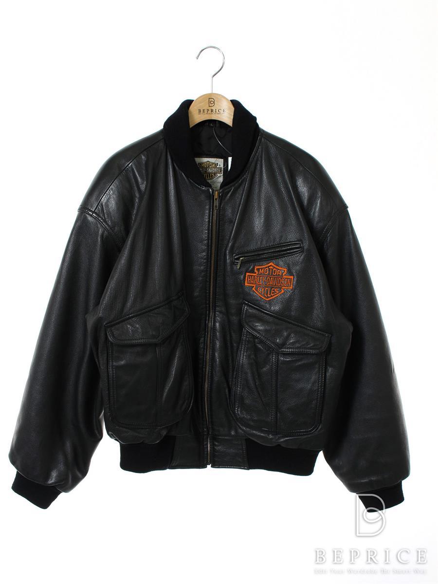 ハーレーダビッドソン ジャケット Harley Davidson ハーレーダビッドソン ジャケット シングル 裏地糸ホツレあり HD-85