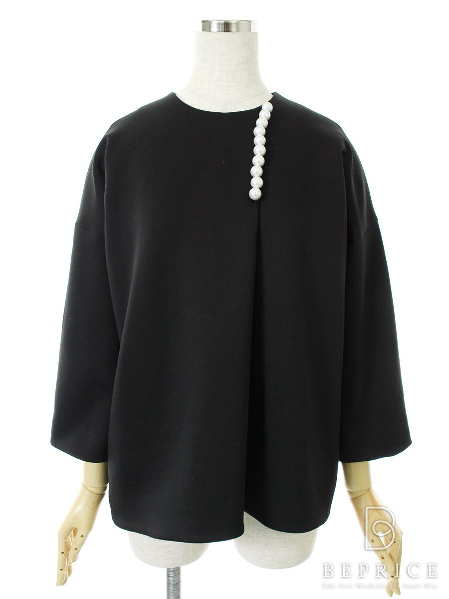 Tシャツ カットソー トップス 長袖 パール