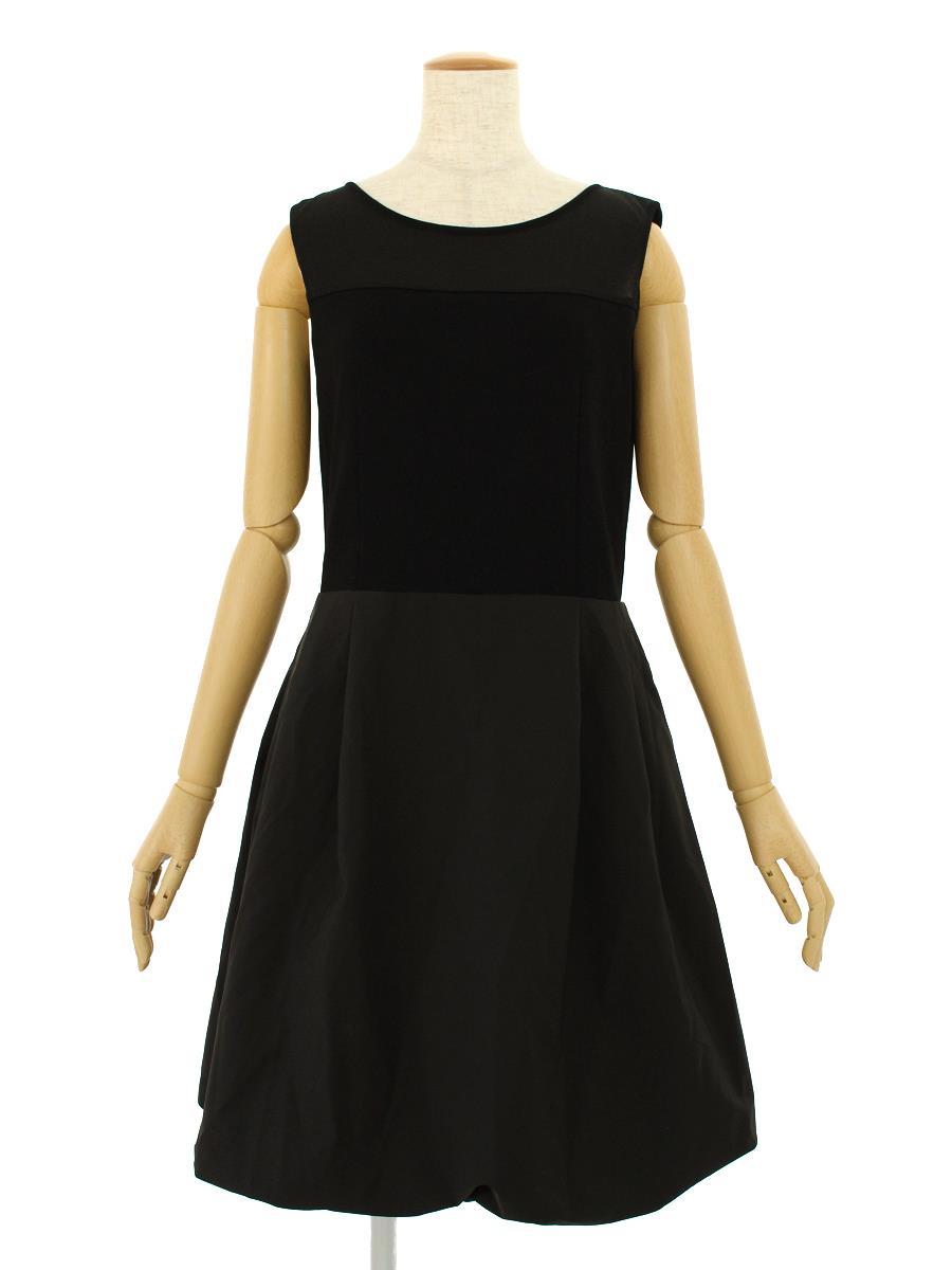 ルネ ワンピース ノースリーブ 切替 バルーン スカート薄変色あり