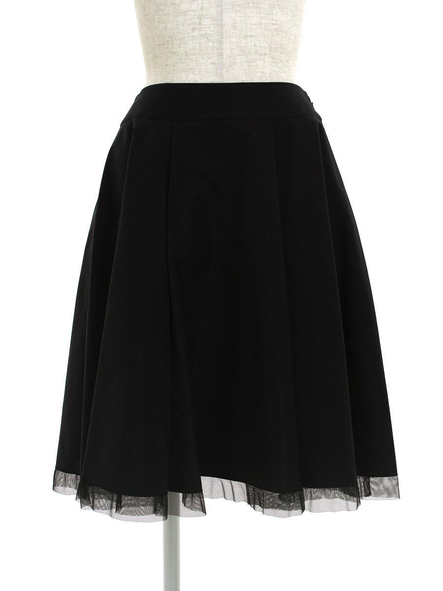 エムズグレイシー スカート スカート フレアー 裾チュール