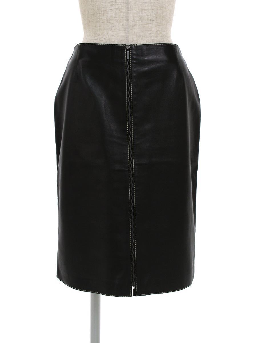 ポールカ スカート スカート フェイクレザー