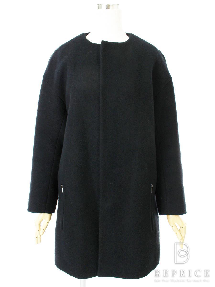 ドゥロワー コート Drawer ドゥロワー コート ノーカラー 毛羽立ちあり