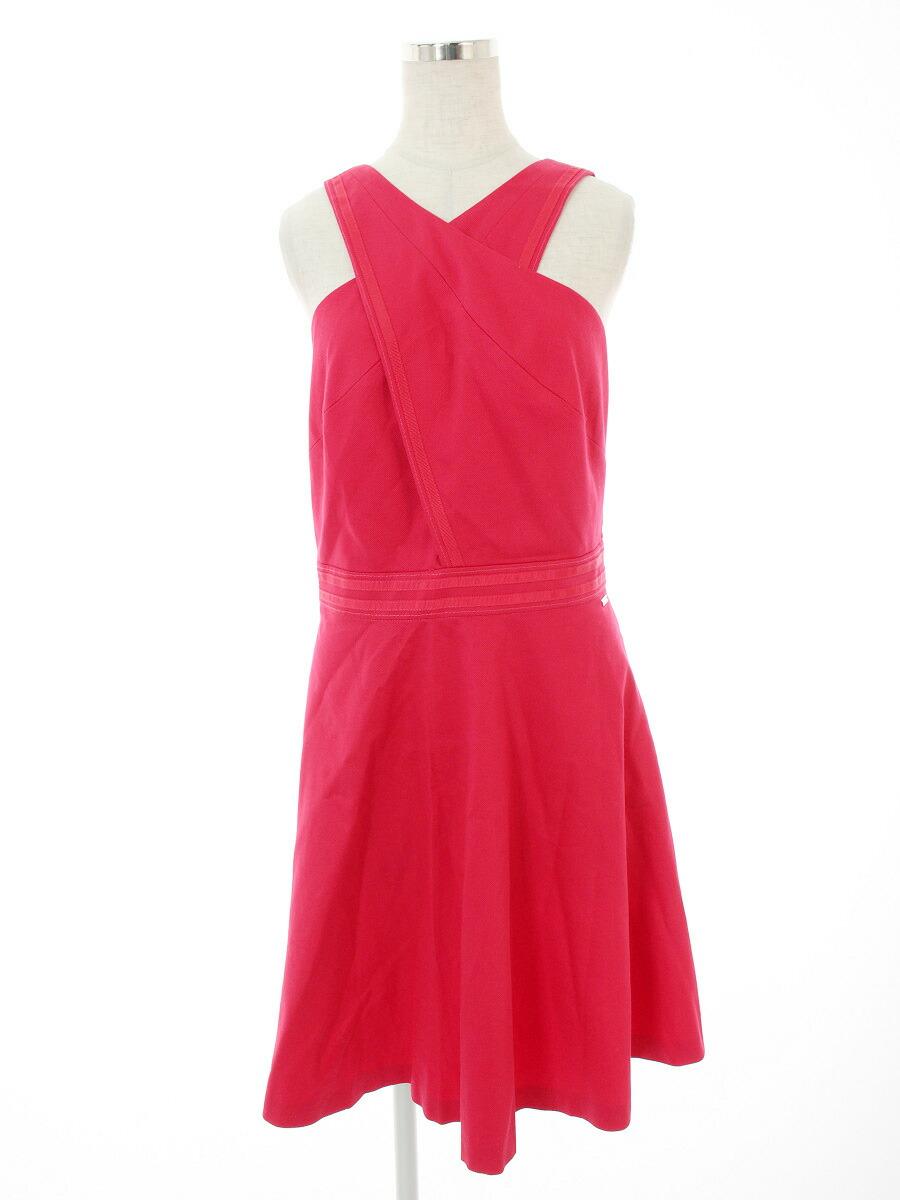 buy online d3dd0 f772c アルマーニエクスチェンジ ワンピース Dress ワンポイント ノースリーブ 4 【Bランク】