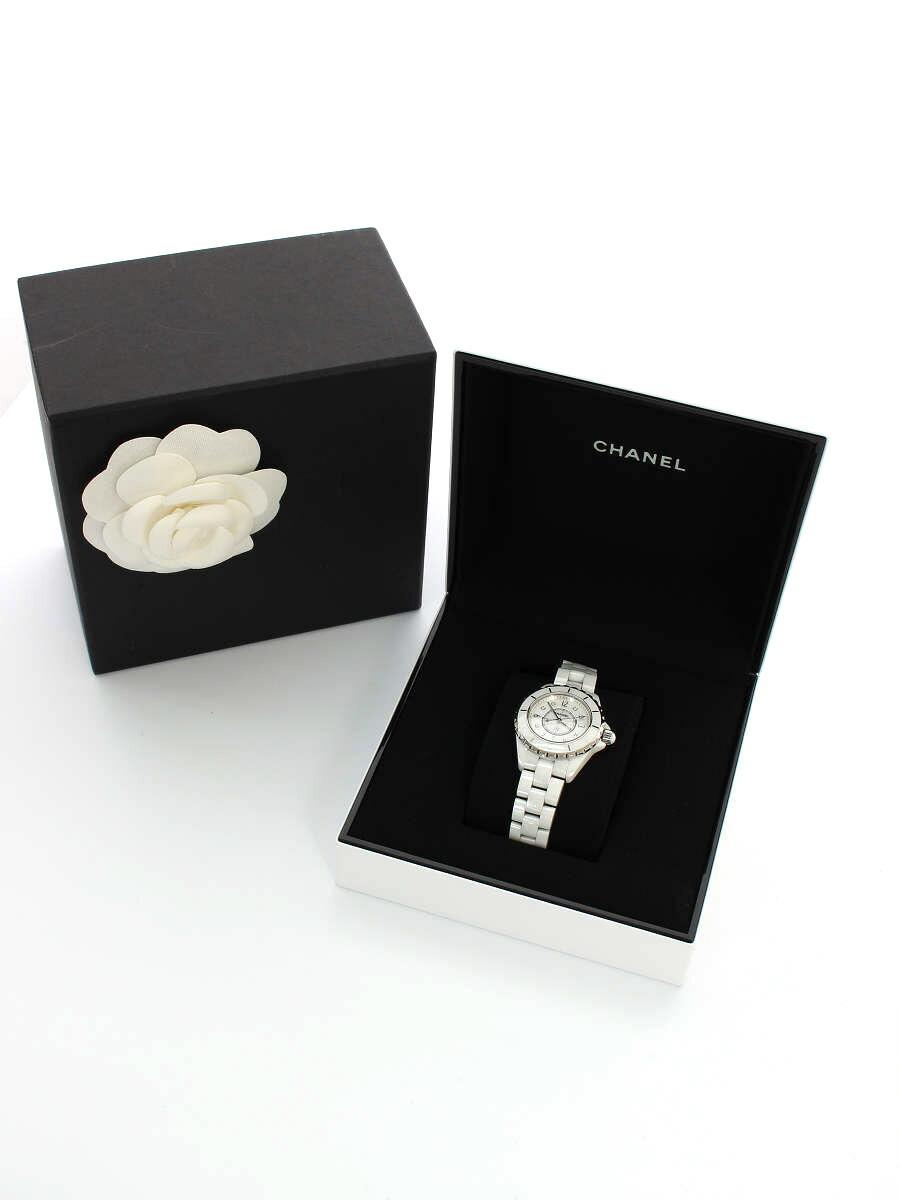 腕時計 クオーツ J12 8Pダイヤ ホワイトシェル H2422 2016年 ホワイト