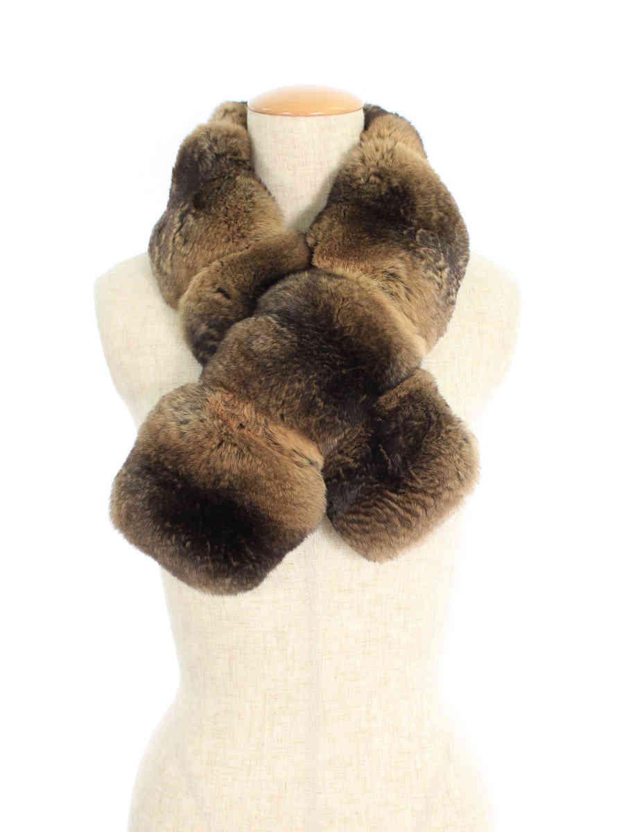 毛皮 ティペット マフラー 30803 Chinchilla Tie 2014年 ブラウン