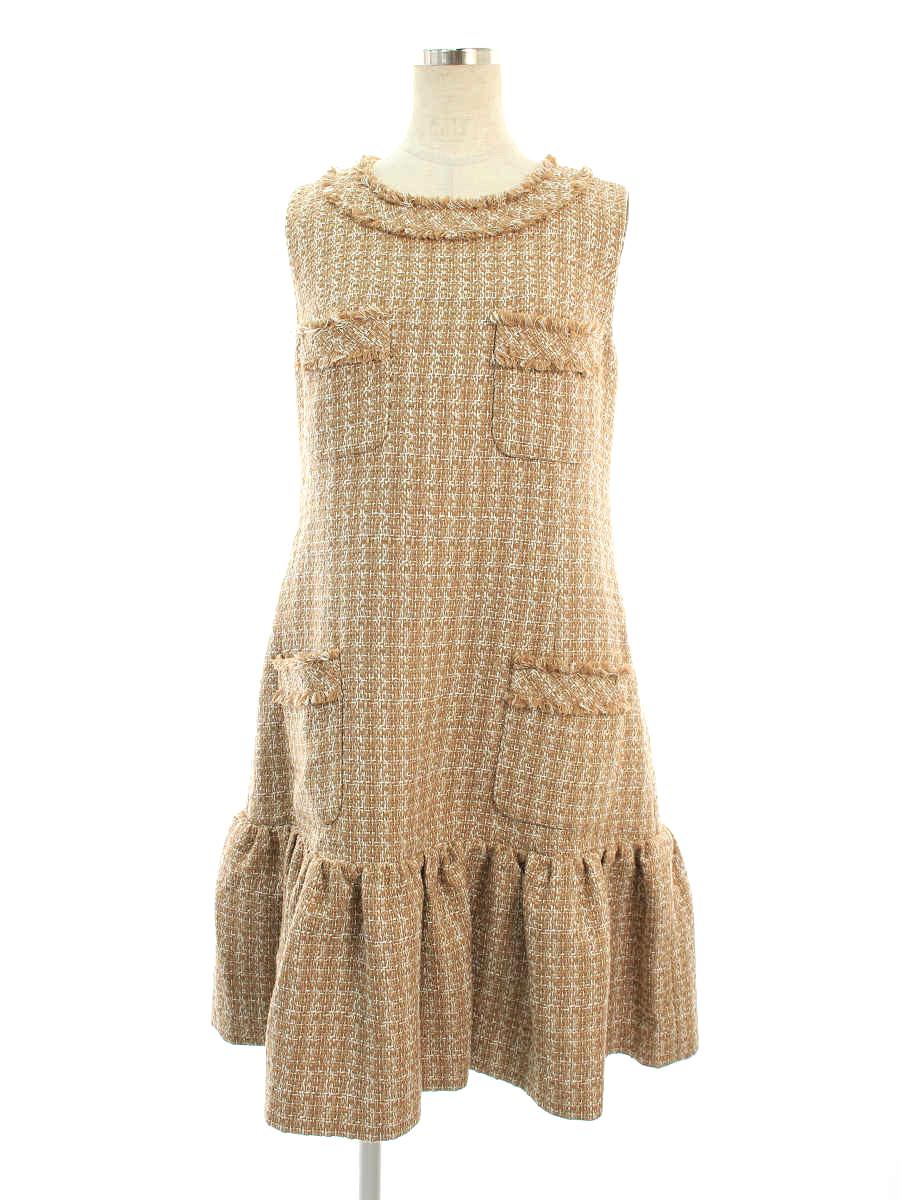 ワンピース 38986 Dress ツイード 2018年 ブラウン