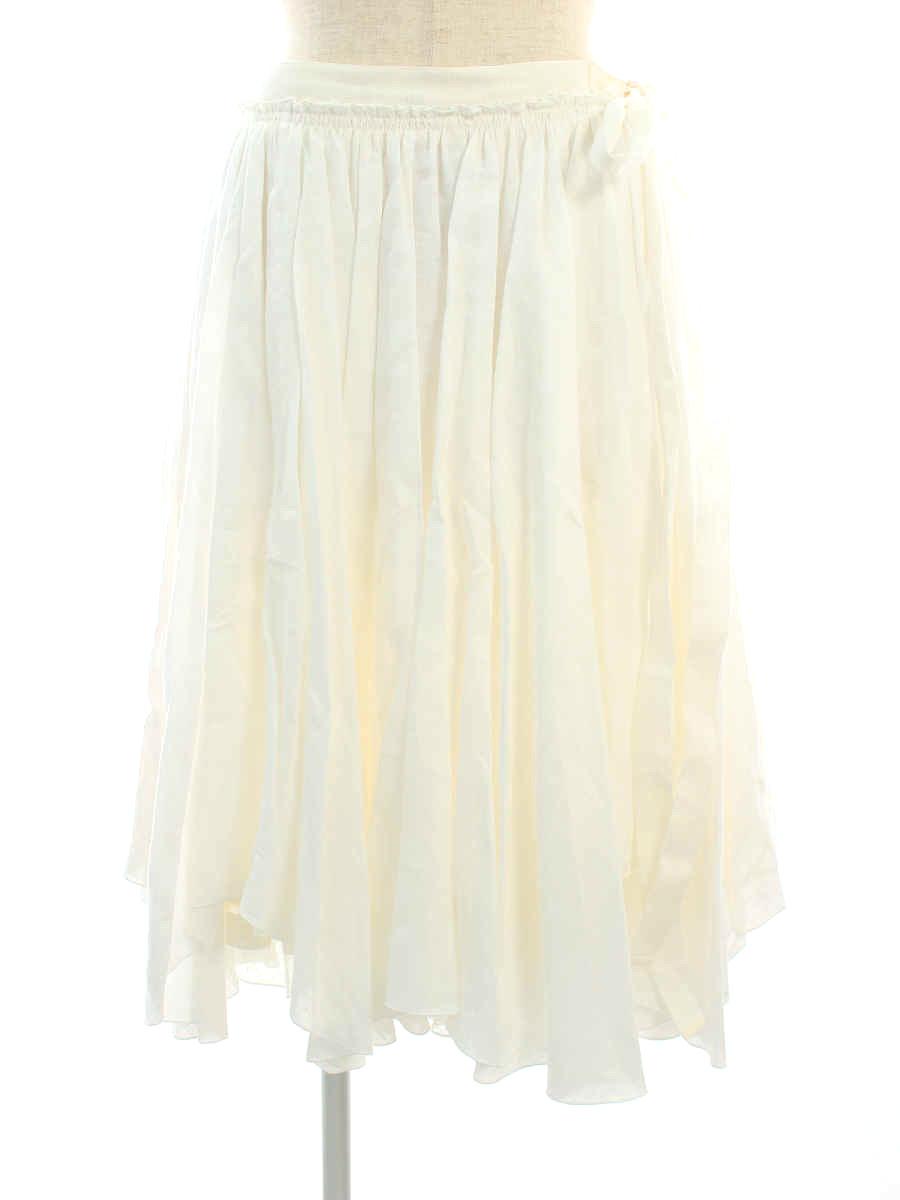 スカート 38452 リネンブーケ 2018年 ホワイト