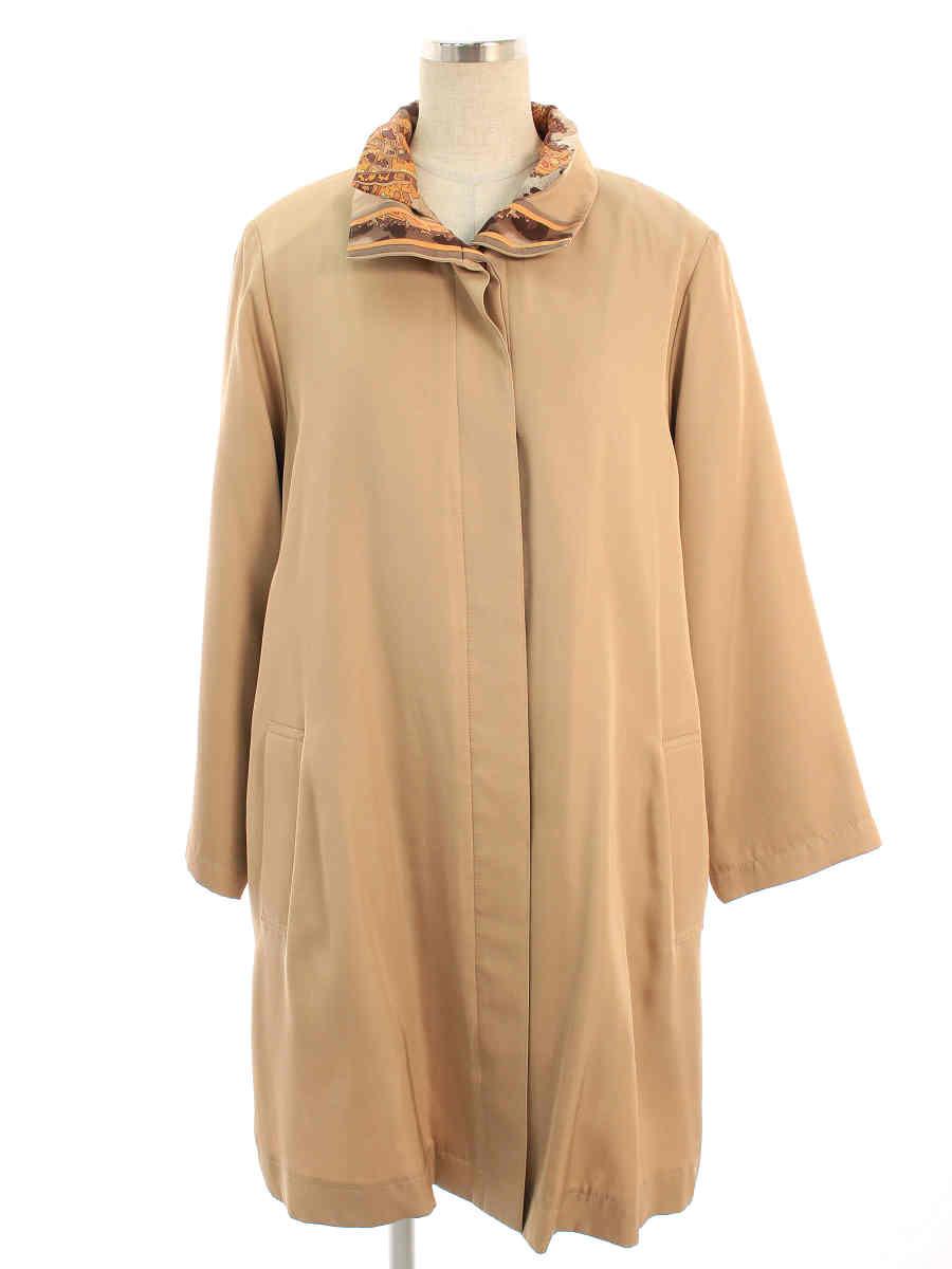 コート 衿付き 中綿 ブラウン