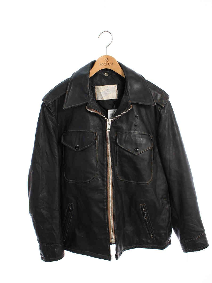 ポリスマンジャケット 牛タグ 70年代製 ブラック