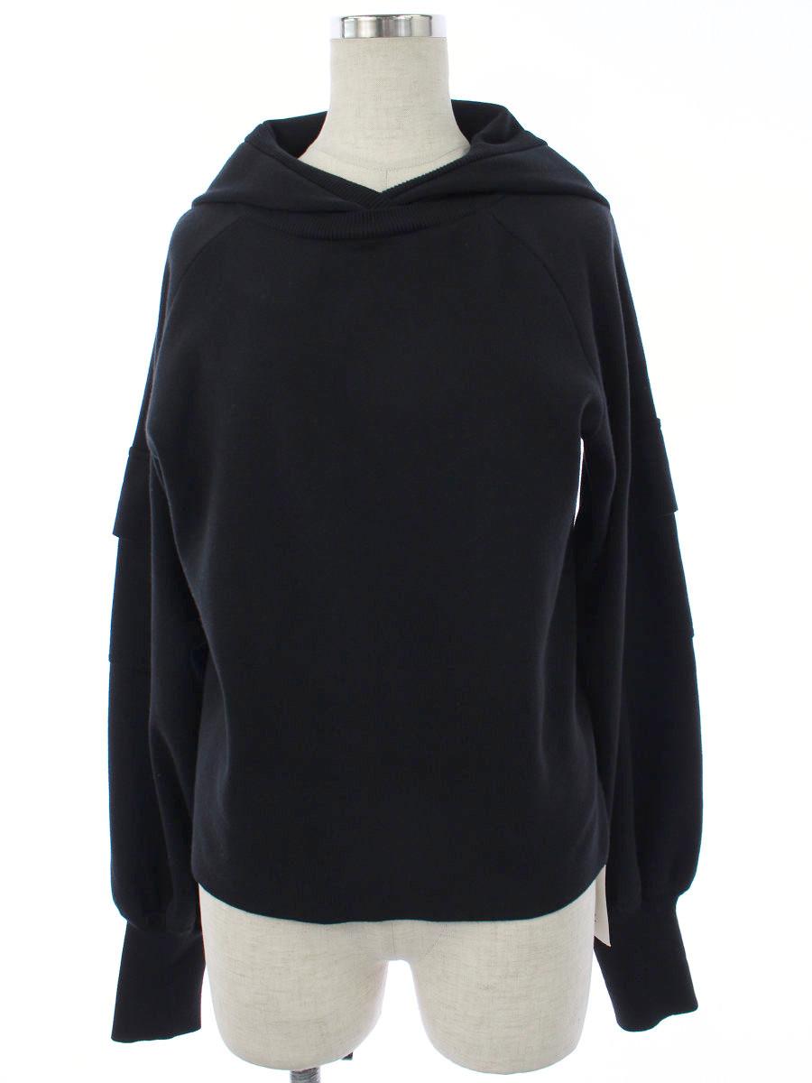 ニット セーター 41608 プルオーバーフーディ 2020年 ブラック
