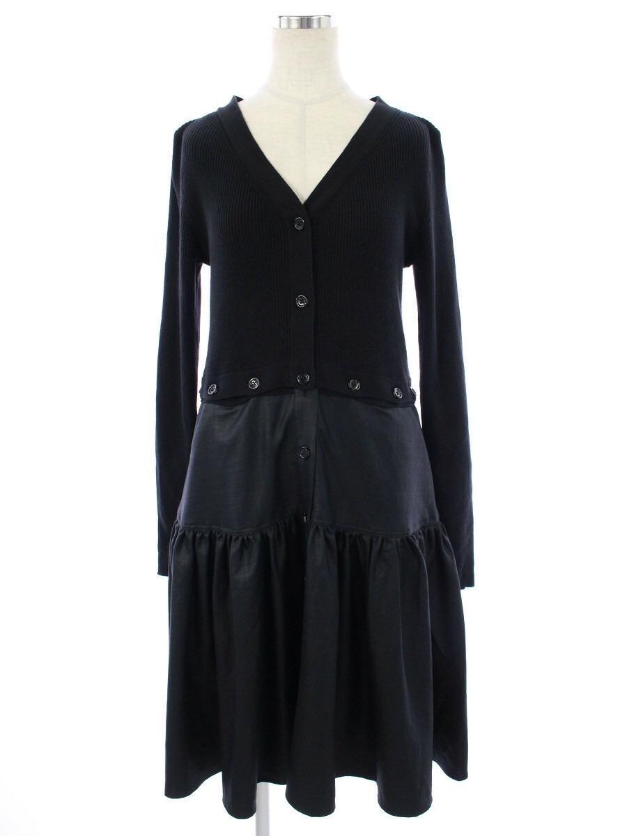 ワンピース 41602 切替 Convertible Knit Dress 2020年 ブラック