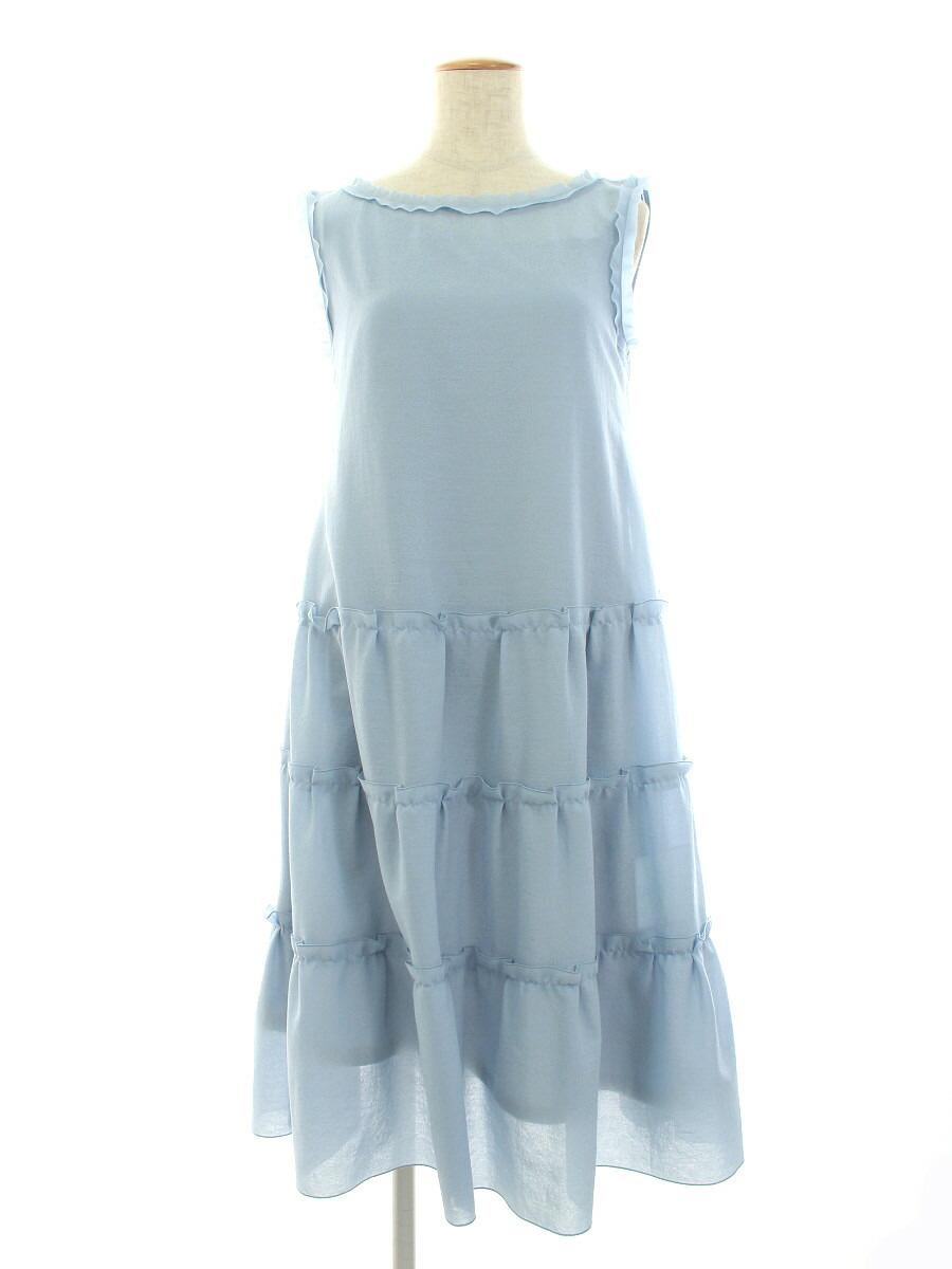 ワンピース 06208 Dress さらさら Millefeuille 2in1 2020年 サックスブルー