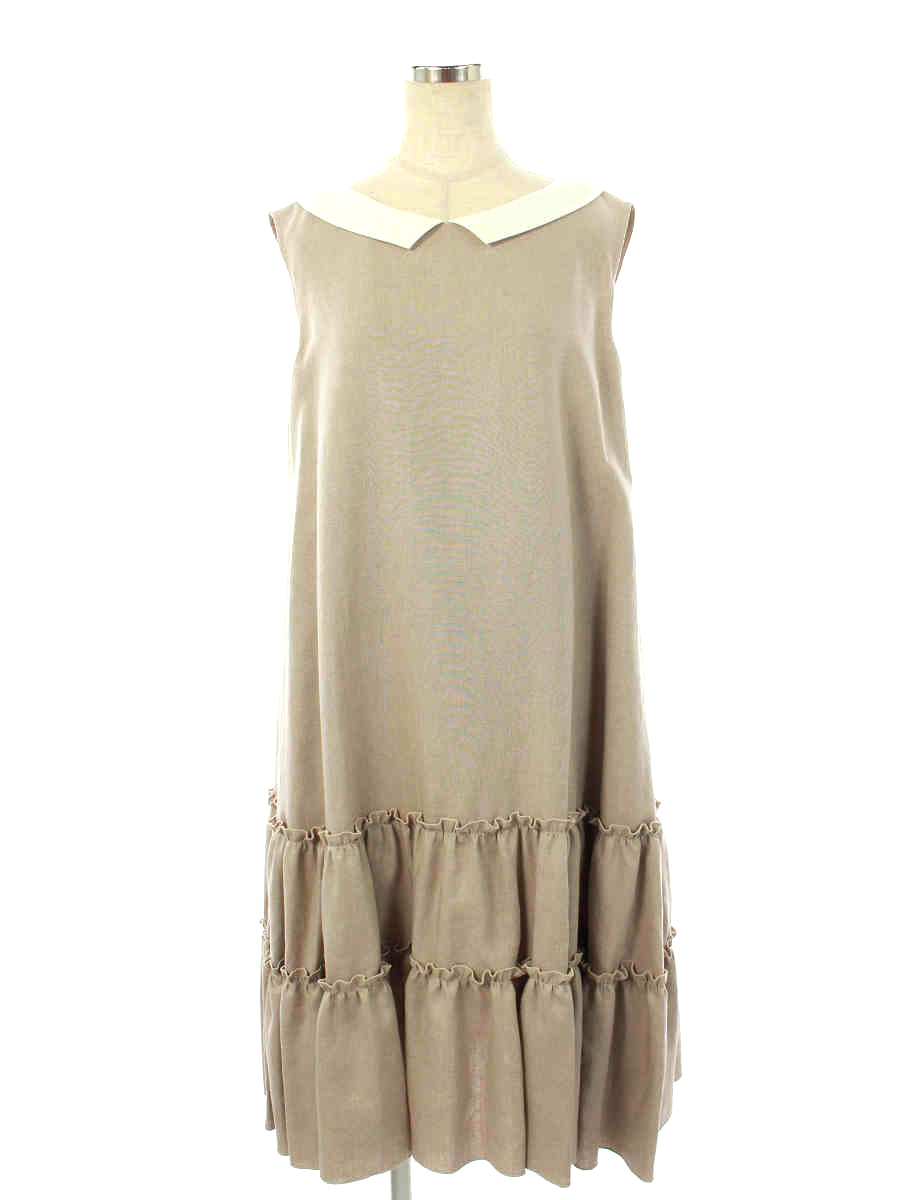 ワンピース Washable Linen Tiered Dress 6026820 2020年 ホワイト