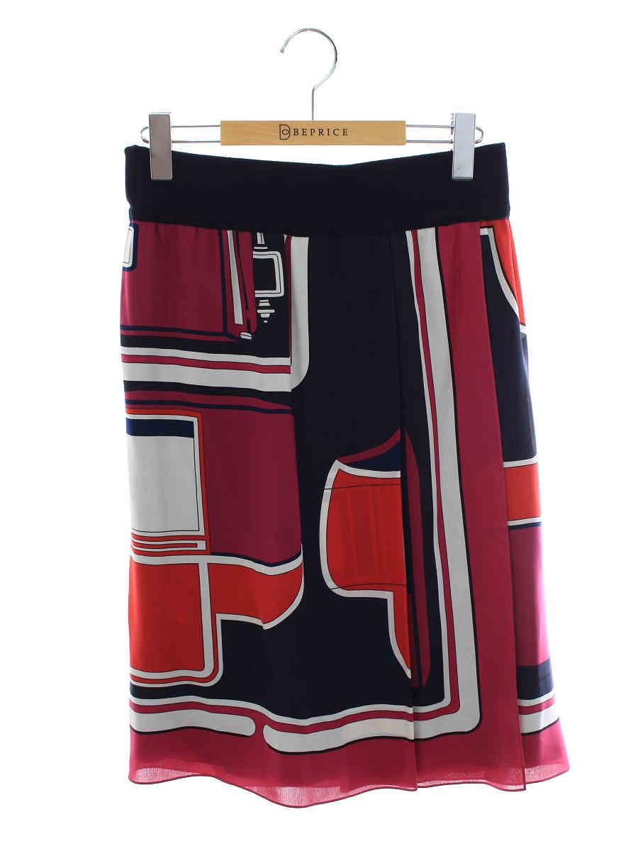 スカート シルク ラップ ウエストゴム マルチカラー