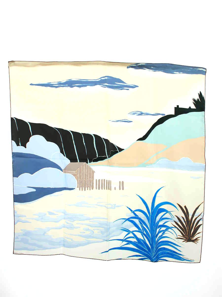 スカーフ カレ90 Antoine Carbonne ベージュ系