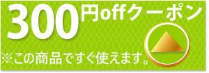 すぐに使える300円クーポン配布中です