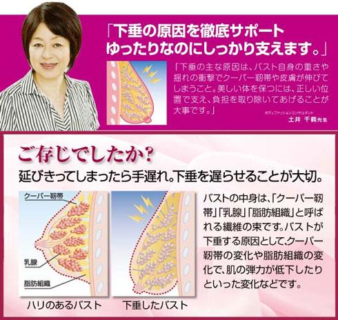 開発者【土井千鶴先生】:アパレル、インナー業界30年以上の経験から、数々のヒット商品を開発。