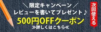 レビューを書いて500円クーポンプレゼント!
