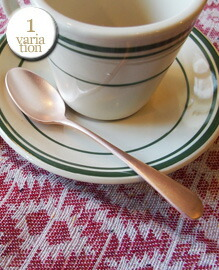 Pink Gold plated coffee spoon L118mm