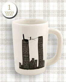 Fishs Eddy Tightrope Walker Mug 11.5x8cm