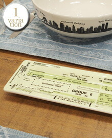 Fishs Eddy Airline Ticket Tray 8x20cm