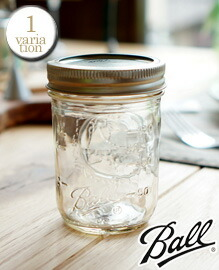Ball Mason Jar Regular mouth 8oz clear BALL社