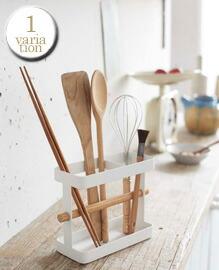 トスカ キッチンツールスタンド ワイド ホワイト YAMAZAKI