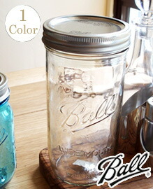 Ball Wide Mouth Jars 24oz clear BALL社