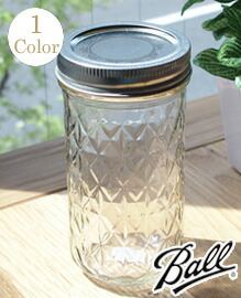 Ball Quilted Crystal Jelly Jars 12oz clear BALL社