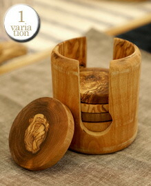 OLIVE COASTER Rial olive wood
