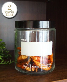 NAME SPACE GLASS JAR S  約φ70×H90mm(240ml)