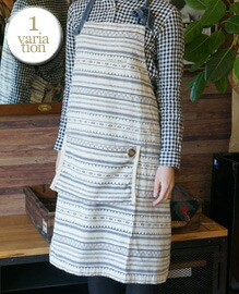AND PACKABLE APRON AZTEC BORDER 約80×80 cm