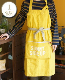 AND PACKABLE APRON SUNNY SIDE UP 約80×80 cm