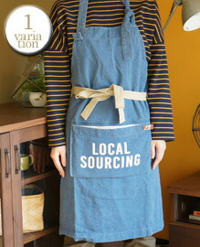 AND PACKABLE APRON LOCAL SOURCING 約80×80 cm