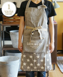AND PACKABLE APRON Star Beige 約80×80 cm
