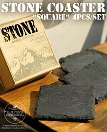 Stone coaster Square 4pcsset DULTON