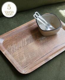 Vintage Wood Style Tray S 【5variation】