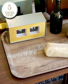 Vintage Wood Style Tray L 【5variation】