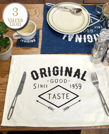 OLD AMERICAN LUNCHEON MAT 【3variation】