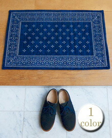 cross bandanna rug 80×50 【1color】