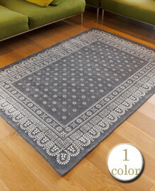 flower bandanna rug 200×140 【1color】