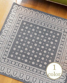 flower bandanna rug  200×200cm 【1color】