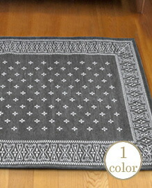 Cross Bandanna Rug 160×120cm Gray 【1color】
